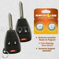 2 For OHT692427AA 2006 2007 2008 2009 Dodge Ram 1500 2500 Keyless Remote Key fob