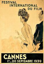 Art Publicitaire festival international du film Cannes Poster Print