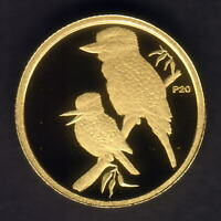 Australia. 2009 (1999) 1/20th oz Gold Kookaburra ($5).  Perth Mint Issue - Proof