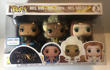 Funko POP A Wrinkle in Time Mrs. Who/Which/Whatsit Collectible Figure 3 Pack NEW