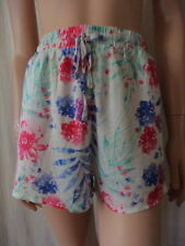 Viscose Hand-wash Only Floral Shorts for Women