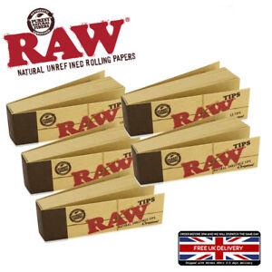 5 BOOKS RAW TIPS JOINT ROACH SMOKING ROLLING PAPER UNBLEACHED ROLL UP CIGARETTE