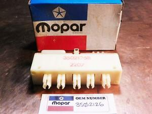 Plymouth 1968-1974 NOS OEM MoPAR A/C Heater Vacuum Switch 3502126 5 Button Type