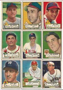 1952 Topps 30 Card Lot Fair-Good