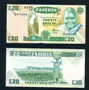 ZAMBIA - 1986 20 Kwacha UNC Banknote