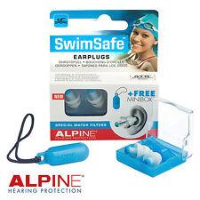 ALPINE swimsafe NUOVO Earplugs per il Nuoto & Sport Acquatici Con Custodia-gratis UK P & P