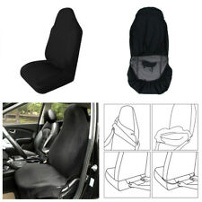 1X Comfortable Black Car Front Seat Cover Protector Cushion Waterproof Anti-Dust