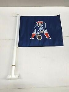 New England Patriots Throw Back Car Flag ( set of two )