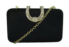 INC INTERNATIONAL CONCEPTS DANYELE Black Satin Shoulder Clutch Msrp $63.60