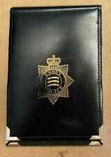 More details for obsolete essex police black leather documents holder rare