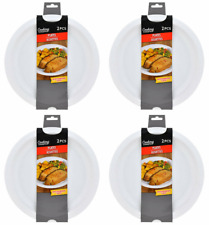 "Pack of 8 Microwave Safe Plates 10"" Microwavable Dishwasher Safe FREE SHIPPING"