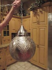 Moroccan Boho Chic Design Swag Pewter Light (Ceiling or plug-in)