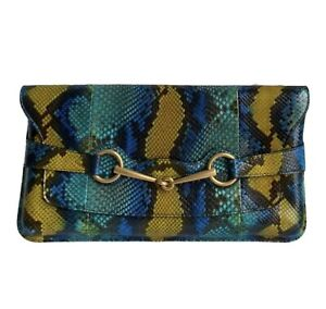 Gucci Clutch Snakeskin Authentic 100%
