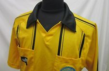 Mens M Official Sports Soccer Referee 2009 Black Yellow S/S Jersey 530