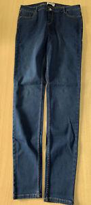 Ladies New Look Super Skinny Dark Blue Size 16 Tall Leg 34 Inches B173