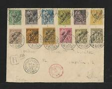 NEW CALEDONIA TO FRANCE COVER 1892 STAMPS ALONE $2200