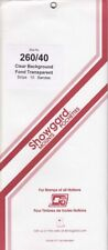 Showgard Clear Stamp Mounts 260/40 mm For US Postal People Full Strip New Pack
