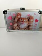 Vaultz Supply Box with Sturdy Key Locking Exterior Embossed Dreaming Kitten