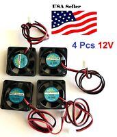 4 Pcs 5V 12V 24V 30mm Cooling Computer Fan 3010 30x30x10mm DC 3D Printer 2-Pin