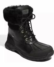 UGG BUTTE BLACK WATERPROOF LEATHER WINTER SNOW MEN'S BOOTS SIZE US 9/UK 8 NEW