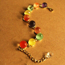 Exquisite New Women's Colorful Candy-colored SweetCcrystal Beads Bracelet