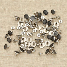 50 Pcs Metal Round Button Stud Screwback Spot Rivet With Screw Leather Craft DIY