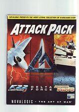 ATTACK PACK - 3 AIR/TANK/FOOT COMBAT PC GAME COMPILATION - ORIGINAL BIG BOX VGC