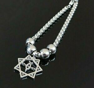 Babalon Thelema Charm Silver Heptagram Magic Bracelet Symbol Steel For Women