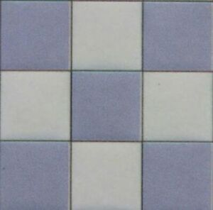 Dollhouse Miniature 1/24 Scale Blue and White Marble Tiles