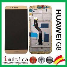 PANTALLA COMPLETA LCD + TACTIL + MARCO HUAWEI ASCEND G8 GX8 ORO RIO-L01 DORADA