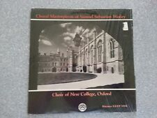 Choral Masterpieces of Samuel S. Wesley LP Record LLST-7173