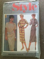 Style Sewing Pattern Misses Pullover Dress Size 16-18-20