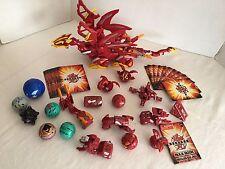 Lot 54 pcs Bakugan Dragonoid Colossus + Parts Metal Ability Cards + MoreBakugans