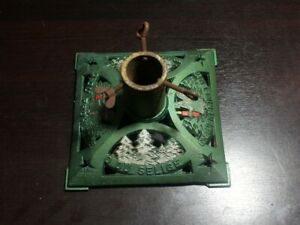 VINTAGE CAST IRON CHRISTMAS TREE STAND BASE STAND (Germany)