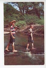 Me & Huck Finn Fishing RARE Vintage Americana Chrome PC Boys ca. 1960s