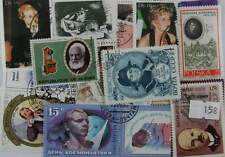 100 Famous people stamps in packet  (158)