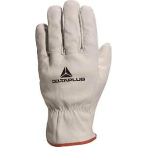 6 Pairs of Delta Plus FBN49 Safety Work Gloves (Various Sizes) Cowhide Leather