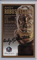 Andy Robustelli Pro Football Hall of Fame Autographed Bronze Bust Card 100/150