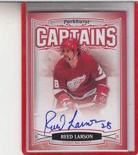 """2006-07 PARKHURST CAPTAINS  REED LARSON """"DETROIT RED WINGS""""#181 AUTOGRAPH AUTO"""
