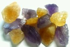 1lb Amethyst Citrine Chunk Collection Rough Geode GEMSTONES Mineral
