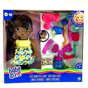 BABY ALIVE CUTE HAIRSTYLES DOLL African American Black NIB