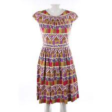 PRADA Kleid Gr. 38 IT 44 Lila Braun Damen Dress Sommerkleid Etuikleid