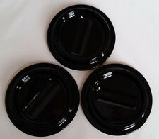 """Piano Caster Cups Black Lucite Set of 3 Caster Cups 4-1/2"""" x 2-3/4"""""""