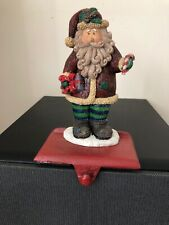 Cast Iron Santa Stocking Hanger Holder Christmas Holiday