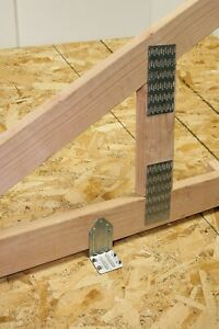 """12 QTY  3"""" x 4""""  Truss Plate - Mending Plate -Structural Plates Zinc nail tooth"""