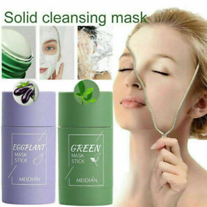 Green Tea Purifying Clay Stick Mask Oil Controls Anti-Acne Eggplant Fine Solids