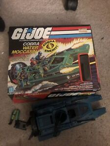 GI Joe 1980's Hasbro COBRA Water Moccasin - BOX And Vehicle Figure Legs