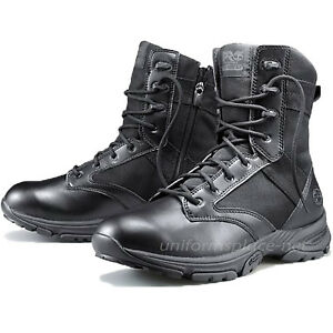 "Timberland PRO Tactical Boots Mens 8"" Valor Soft Toe Side-Zip Duty Boot Black"