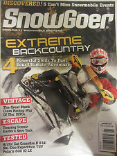 Snow Goer Magazine February 2010 Extreme Back country 4 powerful sleds to fuel