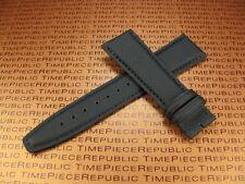 21mm Black Leather Strap TOILE Fabric Watch Band IWC Top Gun PILOT Portuguese